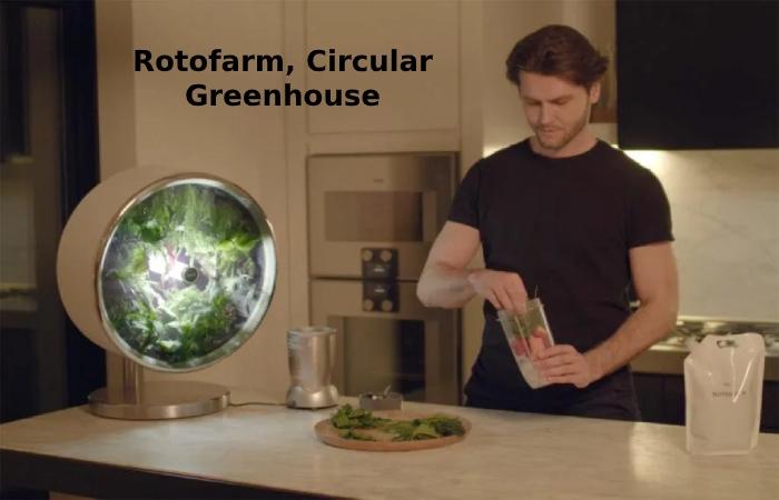 Rotofarm, circular Greenhouse